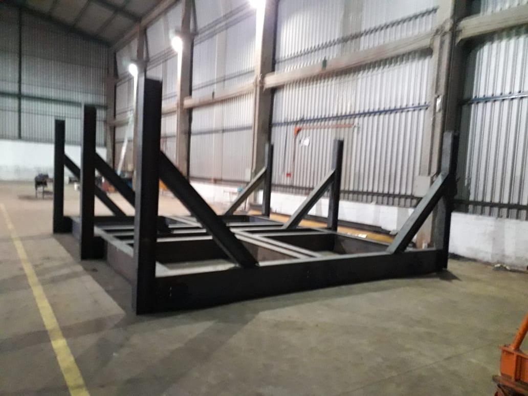 Estrutura para tanques de aço inoxidável